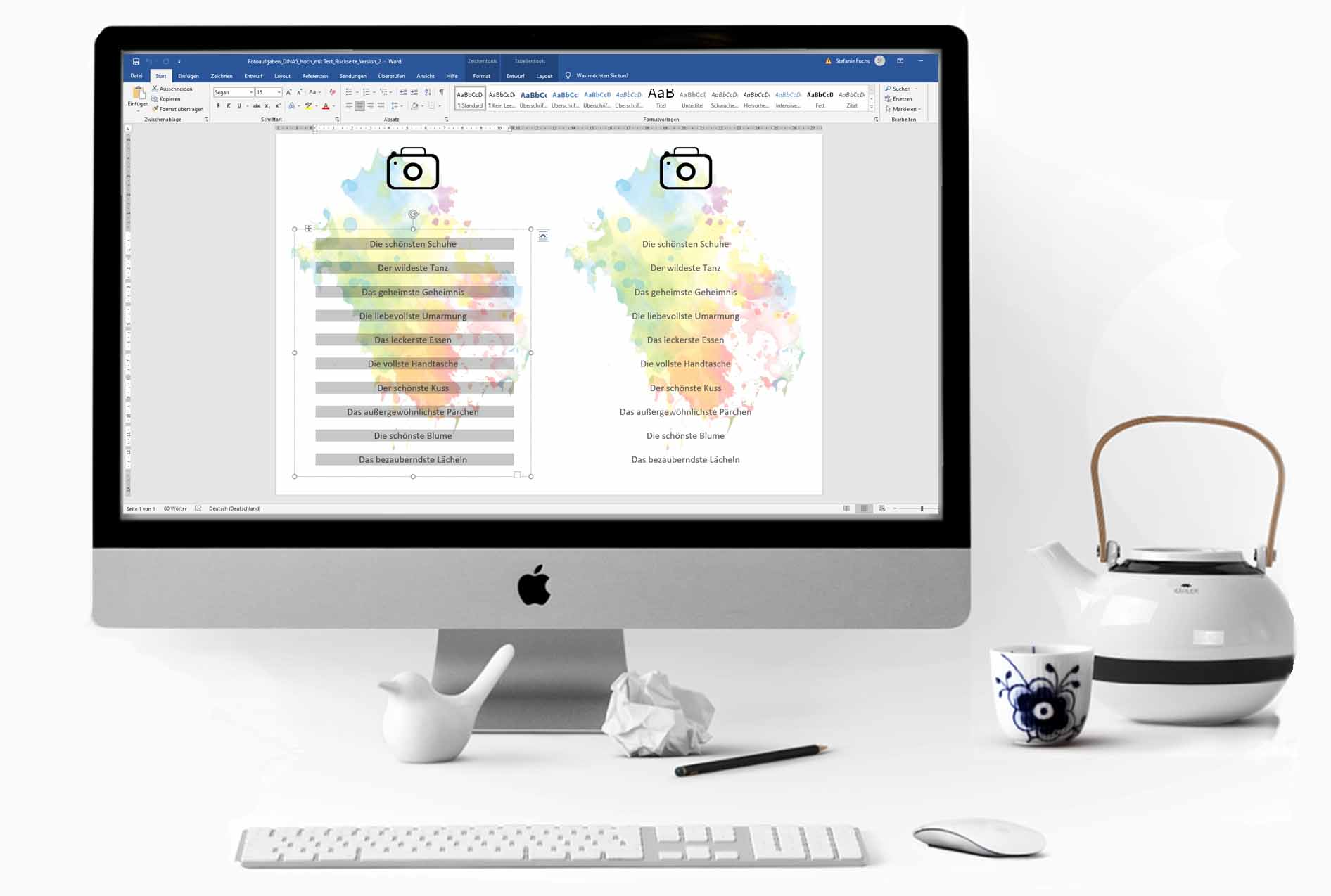 Druckvorlagen für Microsoft Word