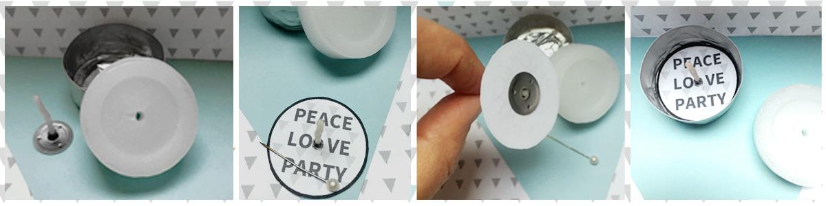 Druckvorlage für kostenlose Teelichtbotschaften zu Silvester