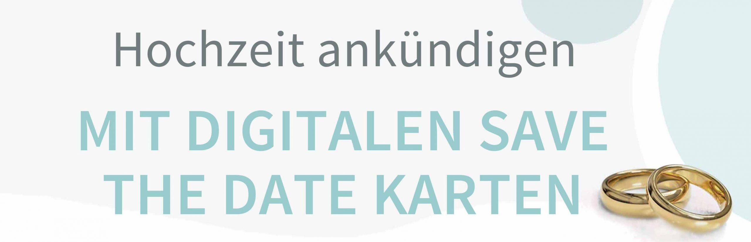 Vorlagen für digitale Save the Date Karten um die Hochzeit anzukündigen