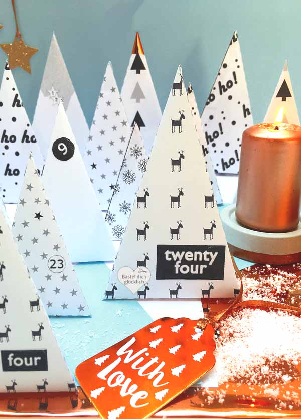 DIY Adventskalender aus Papier selber basteln
