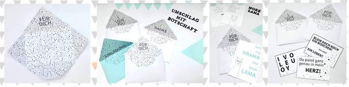 Briefumschläge ausdrucken und selbst basteln