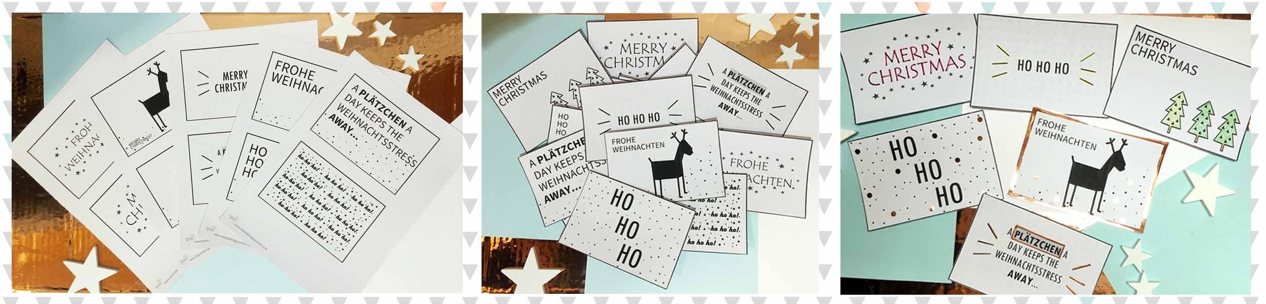 Weihnachtskarten ausdrucken und gestalten