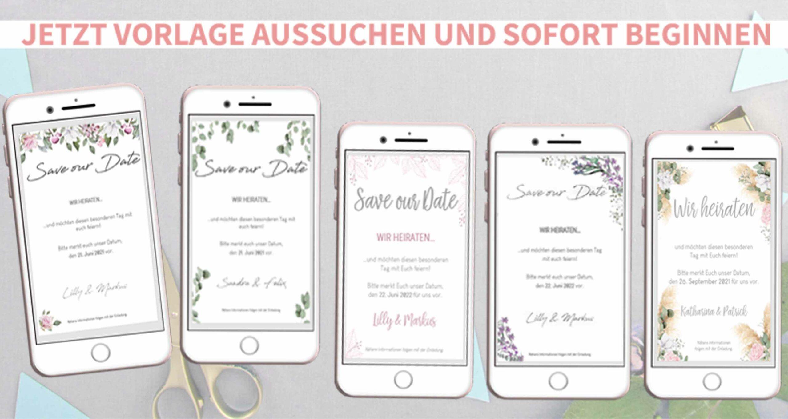 Hochzeit ankündigen per Whatsapp oder Email