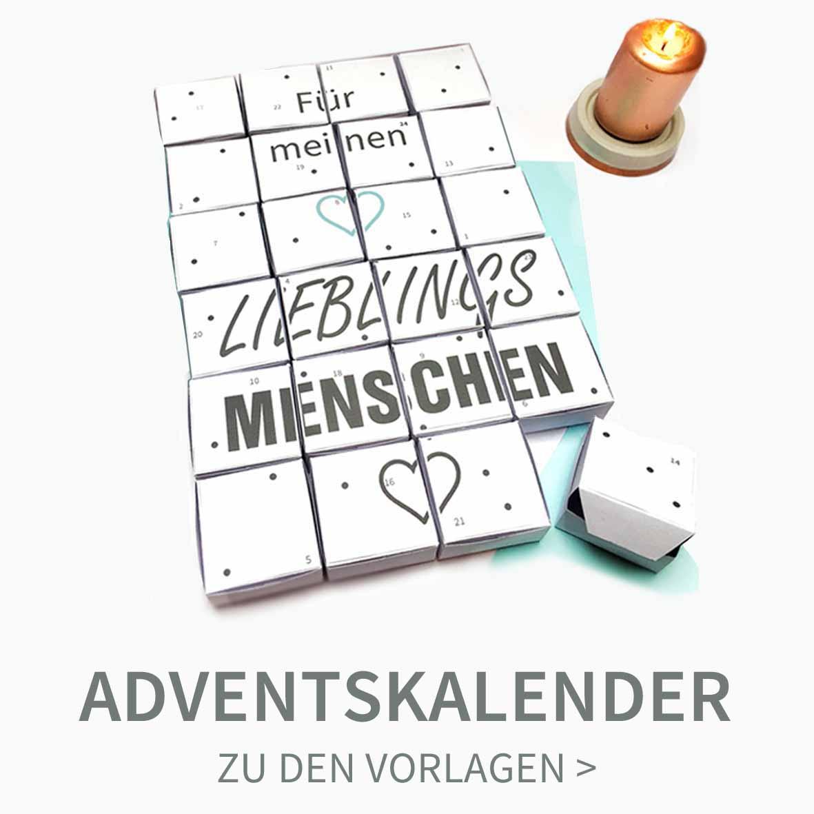 DIY Adventskalender zum Ausdrucken