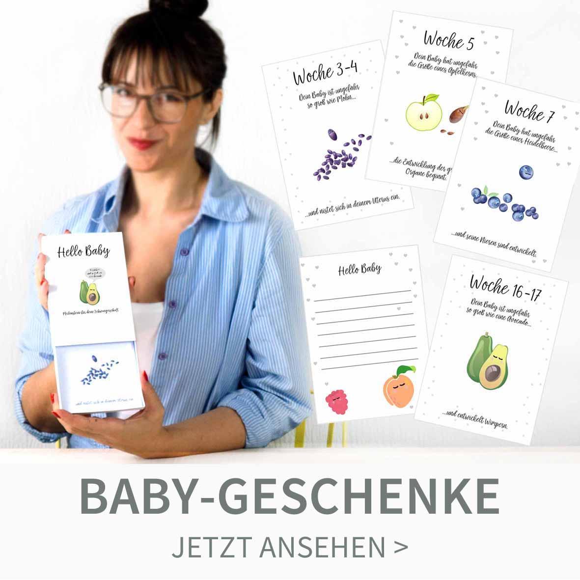 Druckvorlagen für Meilensteinkarten als Baby Geschenk