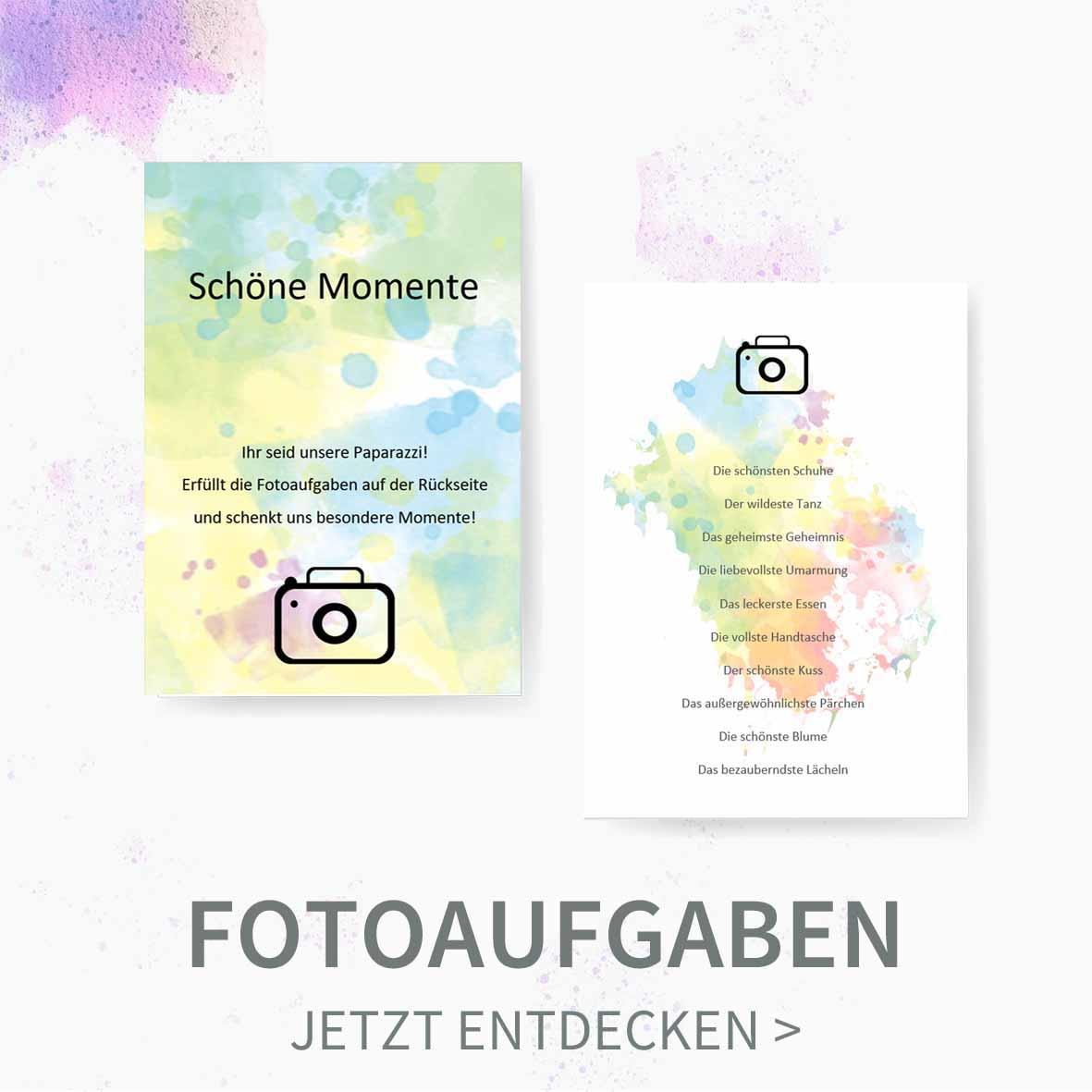 Druckvorlagen für selbst gebastelte Fotoaufgaben