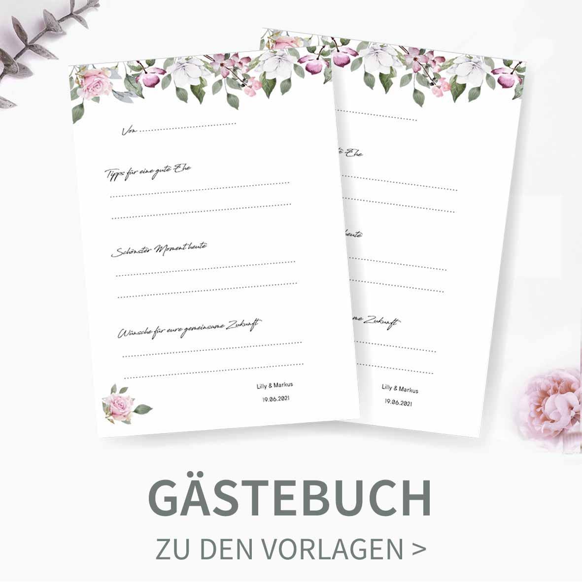 Erstellt und druckt eure Gästebuchkarten einfach selbst
