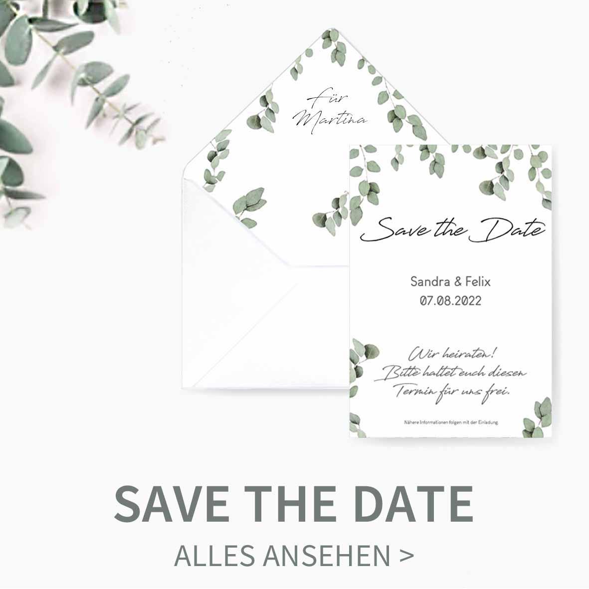 Druckvorlagen für selbst gemachte Save the Date Karten zur Hochzeit