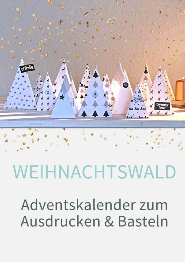Druckvorlagen für einen DIY Adventskalender zum selbst basteln