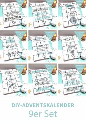 Druckvorlagen für einen Adventskalender zum selber basteln