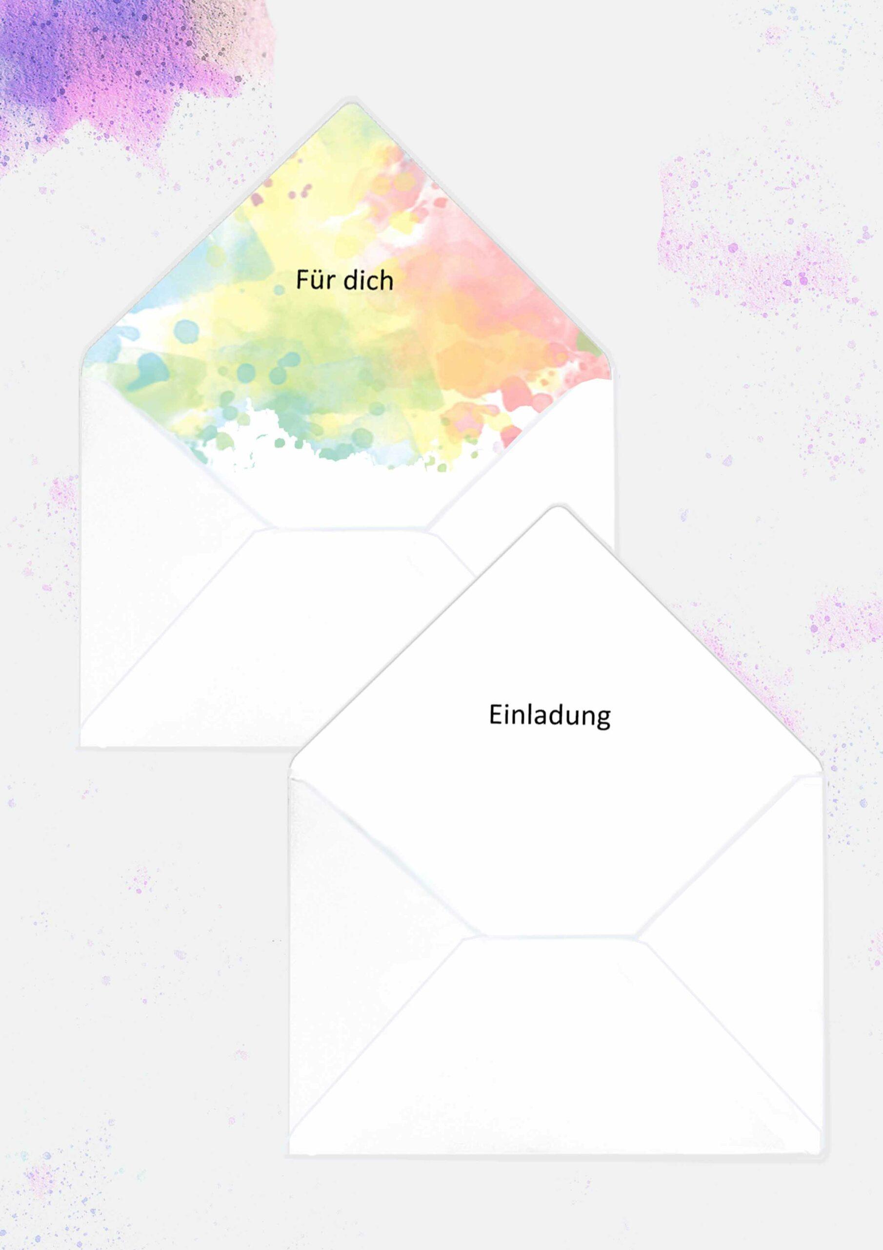 Druckvorlagen für personalisierbare Briefumschläge