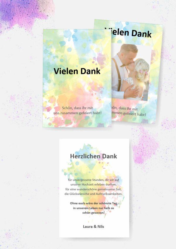 Druckvorlagen für individuelle Danksagungskarten