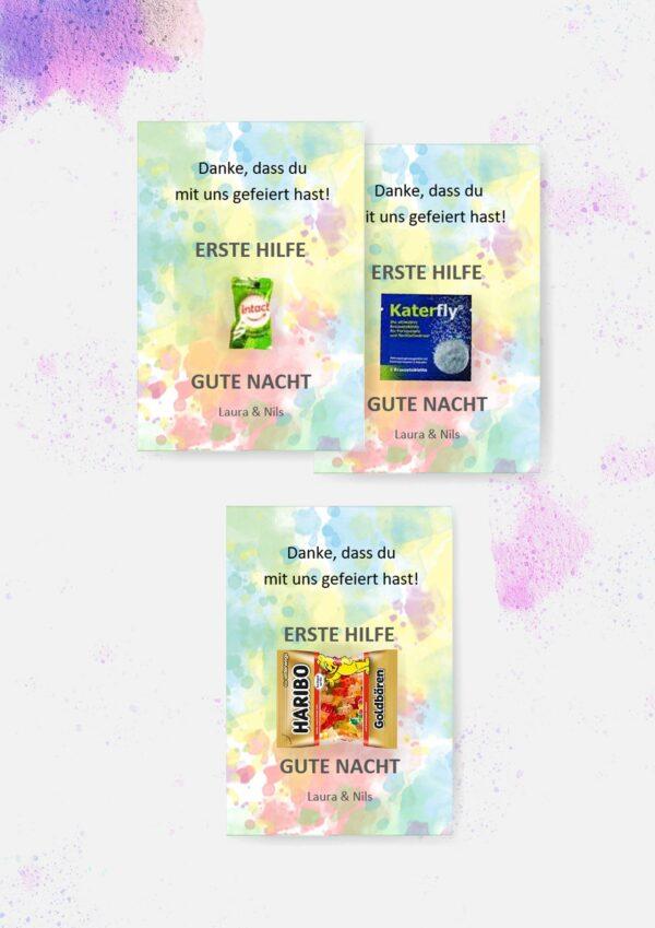 Druckvorlagen für individuelle Erste-Hilfe-Karten