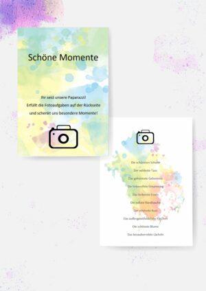 Druckvorlagen für Fotoaufgaben