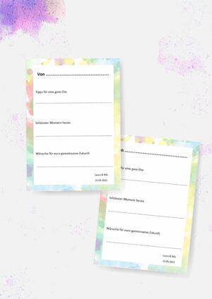 Druckvorlagen für individuelle Gästebuchkarten