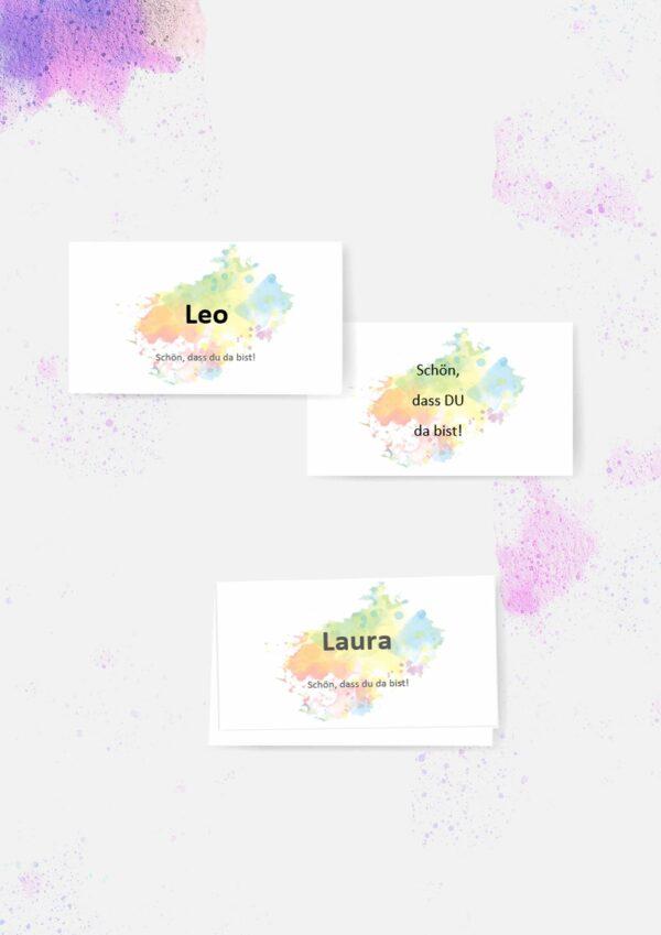 Druckvorlagen für personalisierte Namenskarten
