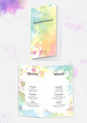 Druckvorlagen für euer Hochzeitsmenü