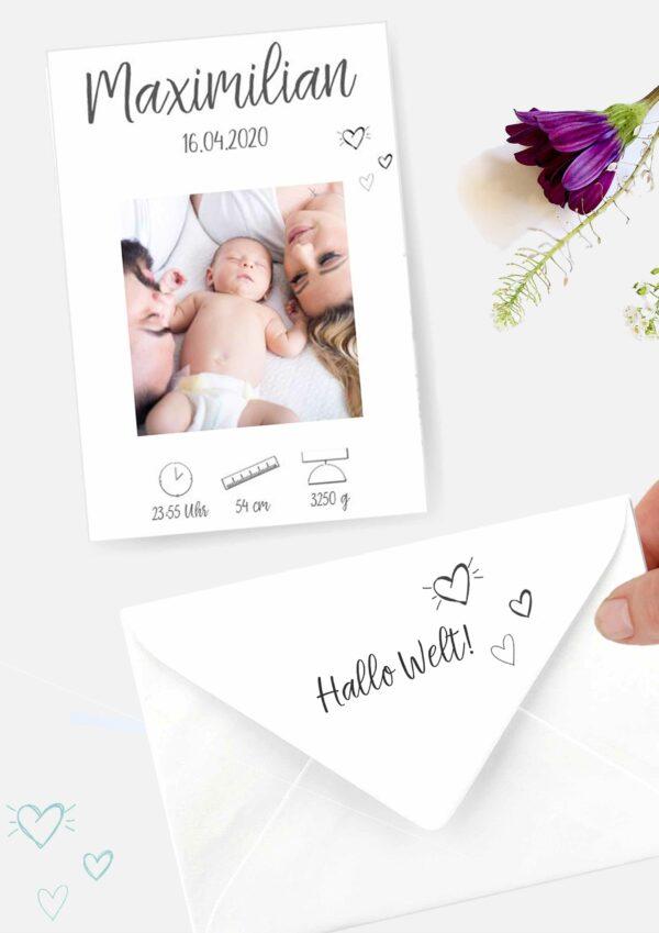 Druckvorlagen für individuelle Geburtskarten