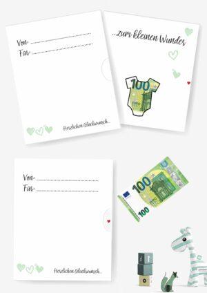 Druckvorlage für ein DIY-Geldgeschenk