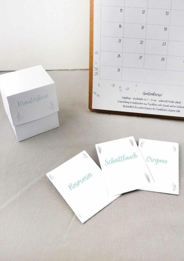Druckvorlagen für den DIY Kräuterhexe Kalender