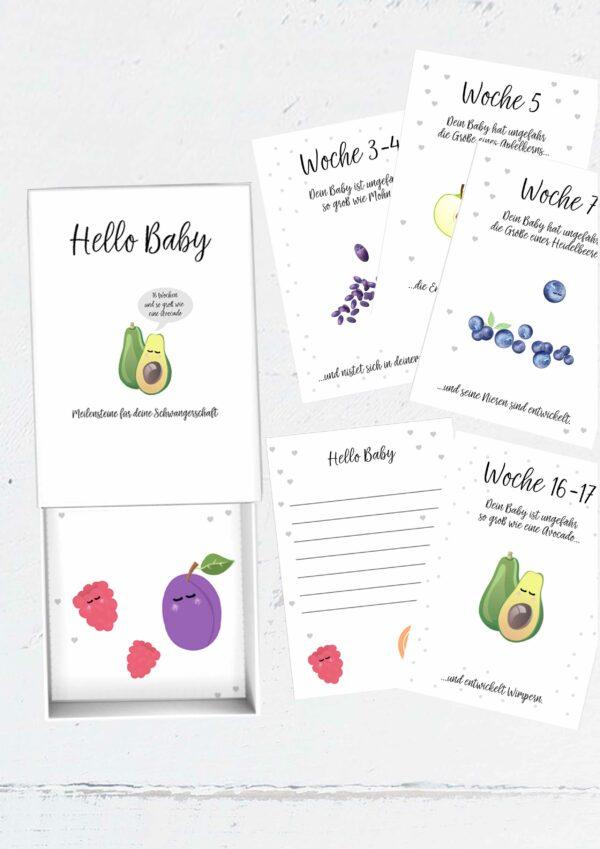 Druckvorlage für Meilensteinkarten - Babys 1. Jahr