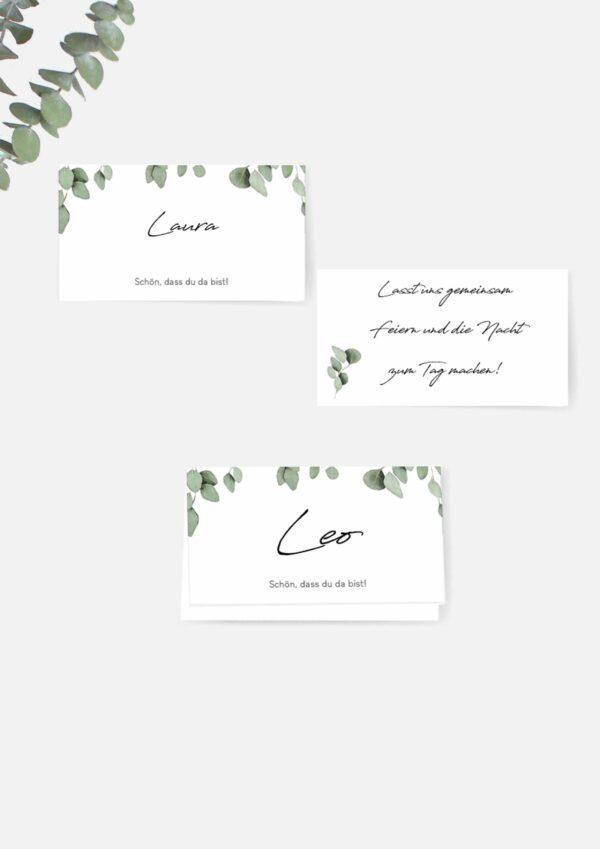 Namenskarten für die Hochzeit einfach selbst drucken