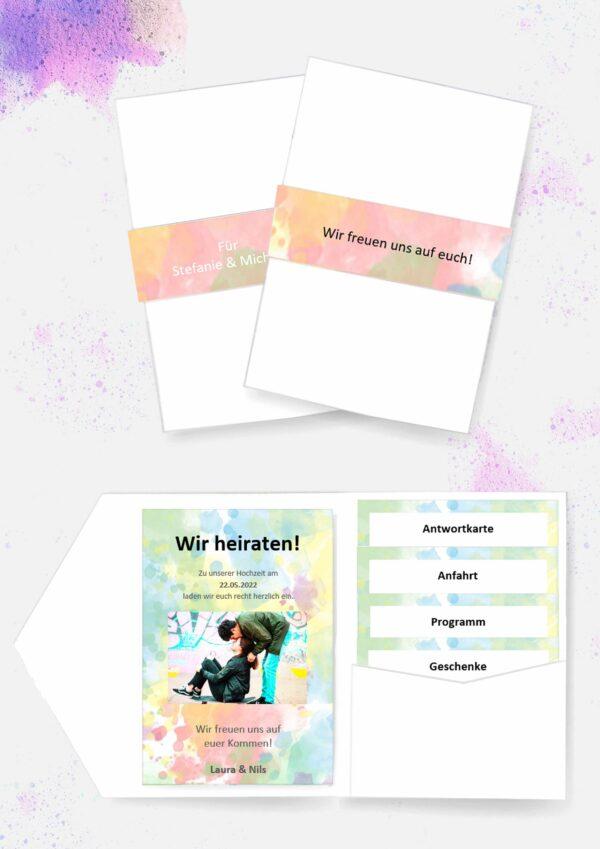 Druckvorlagen für Pocketfold Einladungen