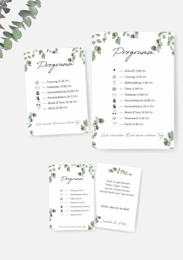 Hochzeitsprogramm mit Symbolen selber machen