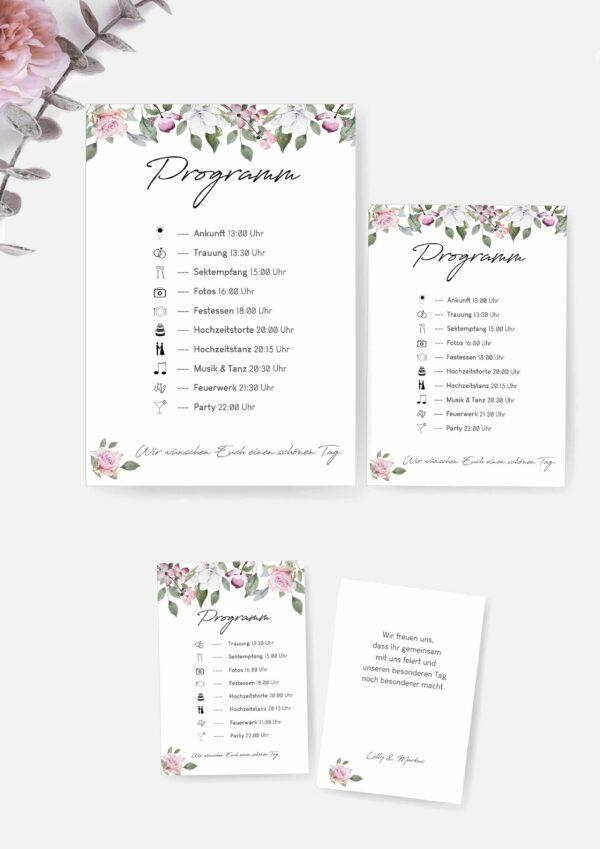 Druckvorlagen für euer Hochzeitsprogramm