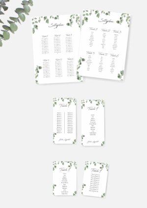 Sitzplan für eure Hochzeit selbst drucken