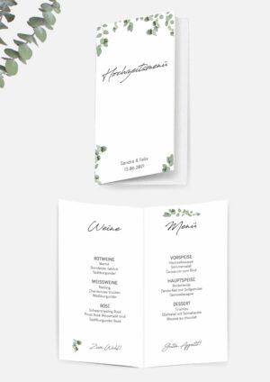 Speisekarten für eure Hochzeit zum ausdrucken
