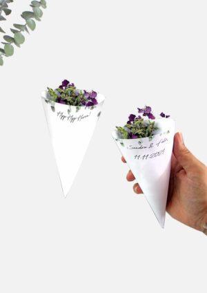 Blumenkegel für Streublumen selbst basteln