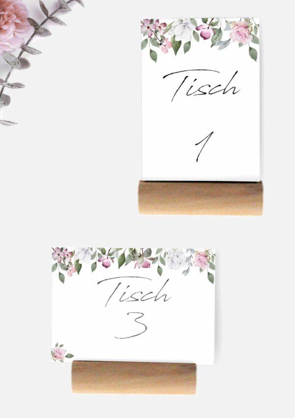 Druckvorlagen für Tischnummern