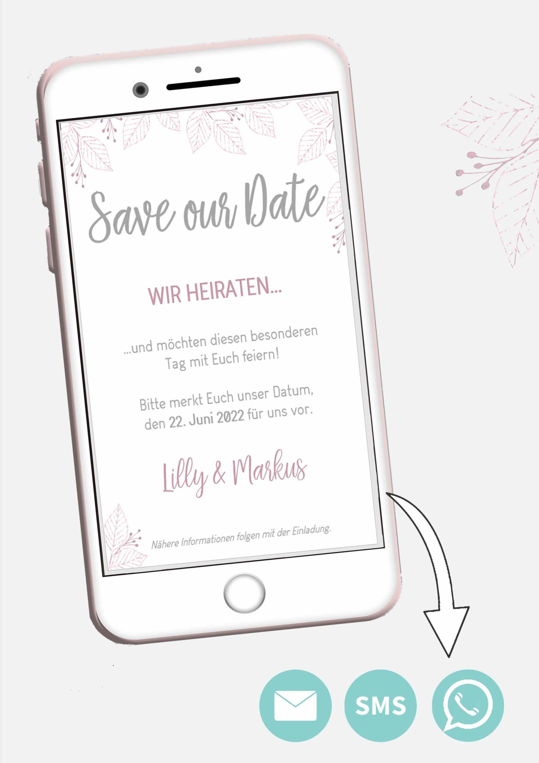 Nachhaltig heiraten Dank digitaler Karten