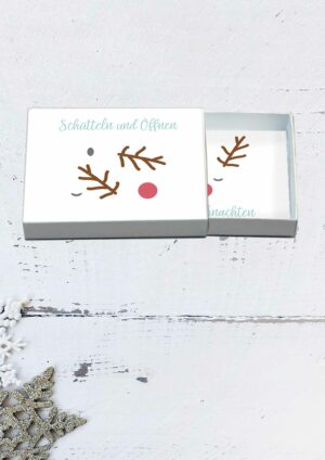 Druckvorlagen für Weihnachtsgrüße aus der Box