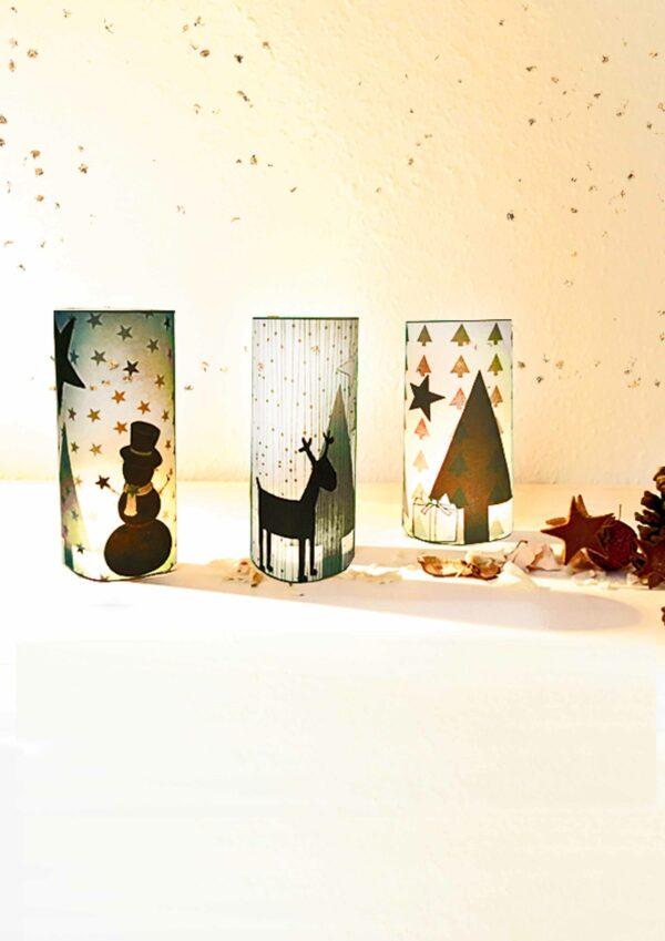 Druckvorlagen für selbst gebastelte Teelichtschirme