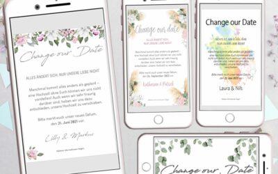 HOCHZEIT VERSCHIEBEN: In nur 15 Minuten Change the Date Karten preiswert selber machen