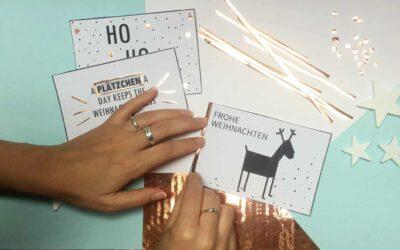 WEIHNACHTSKARTEN BASTELN – Schnelle und einfache Weihnachtsgrüße – minimalistisch, clean und stylisch!